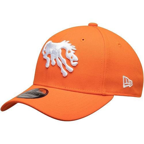 Men's New Era Orange Denver Broncos The League Throwback 9FORTY Adjustable Hat