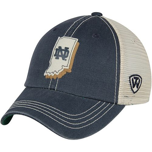 Youth Top of the World Navy Notre Dame Fighting Irish United Trucker Adjustable Hat