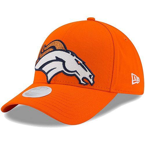 Women's New Era Orange Denver Broncos Glitter Glam 9FORTY Adjustable Hat