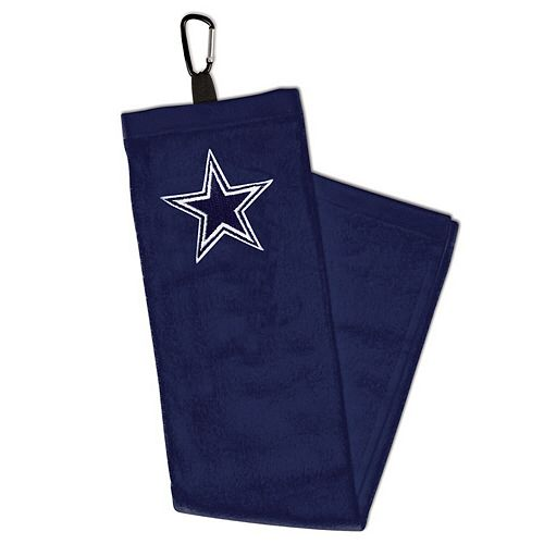 WinCraft Dallas Cowboys Embroidered Golf Towel with Carabiner