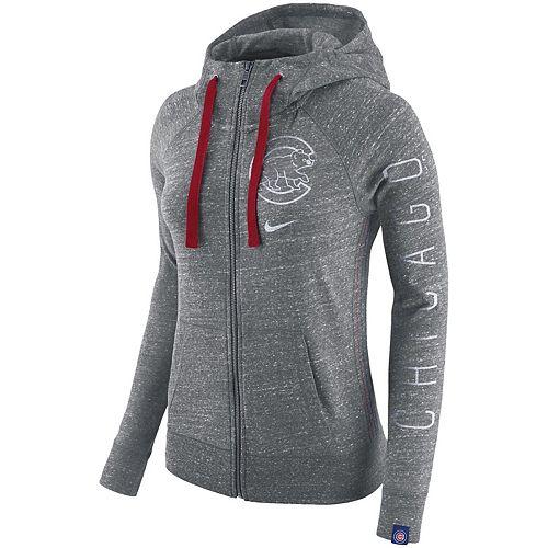 Women's Nike Gray Chicago Cubs Vintage Full-Zip Hoodie