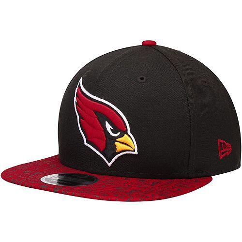 Men's New Era Black/Cardinal Arizona Cardinals Homer 9FIFTY Adjustable Snapback Hat