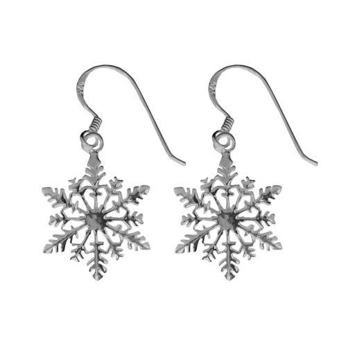 Sterling Silver Snowflake Earrings