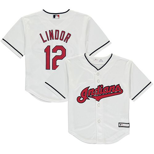 separation shoes 0700c edee6 Youth Francisco Lindor White Cleveland Indians Team Replica Player  Performance Jersey