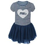 Girls Infant College Navy Seattle Seahawks Celebration Tutu Sequins Dress