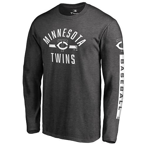 Men's Fanatics Branded Heathered Charcoal Minnesota Twins Cinder Long Sleeve T-Shirt