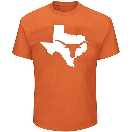 Men's Majestic Texas Orange Texas Longhorns State Big & Tall T-Shirt