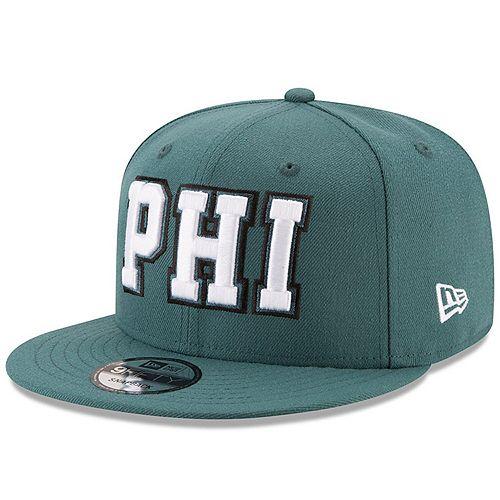 Men's New Era Midnight Green Philadelphia Eagles Home Turf 9FIFTY Adjustable Snapback Hat