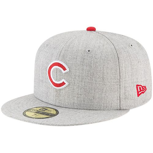 Men's New Era Heathered Gray Chicago Cubs Hype 59FIFTY Fitted Hat