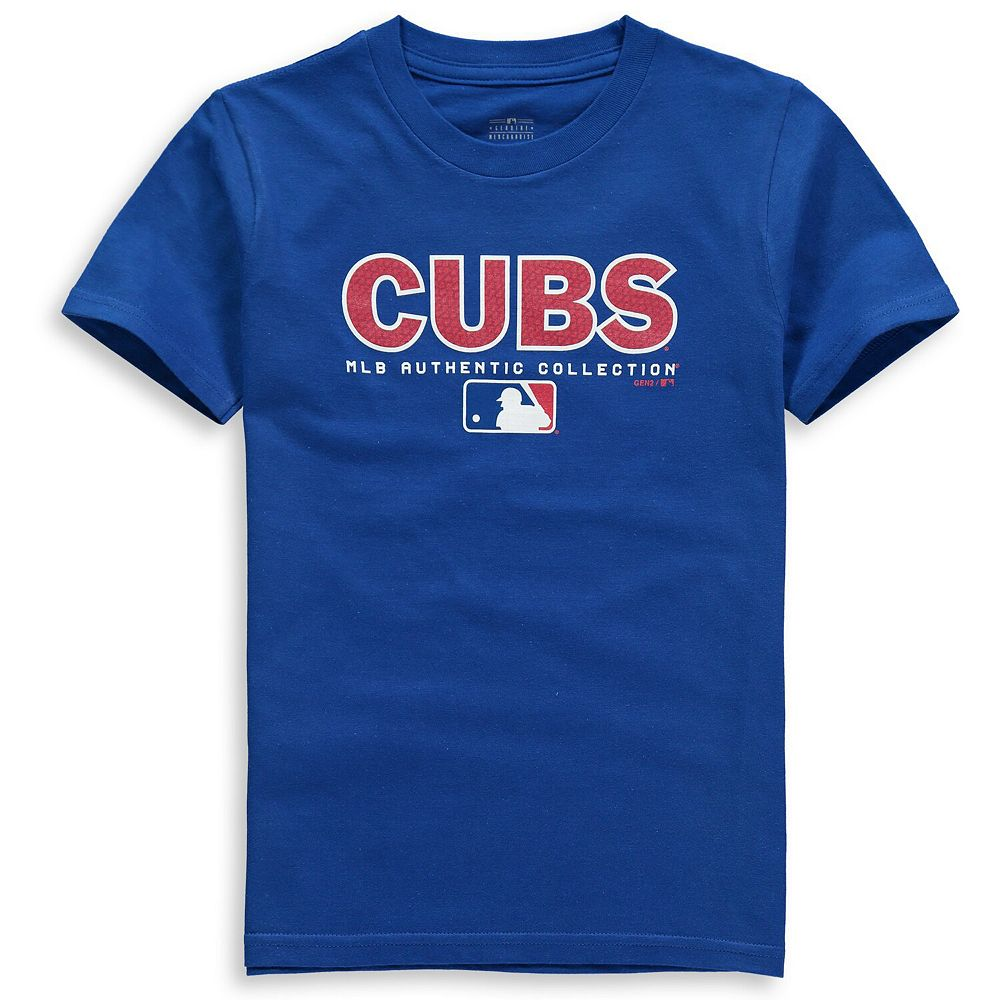 Youth Royal Chicago Cubs Team Drive On-Field Authentic T-Shirt