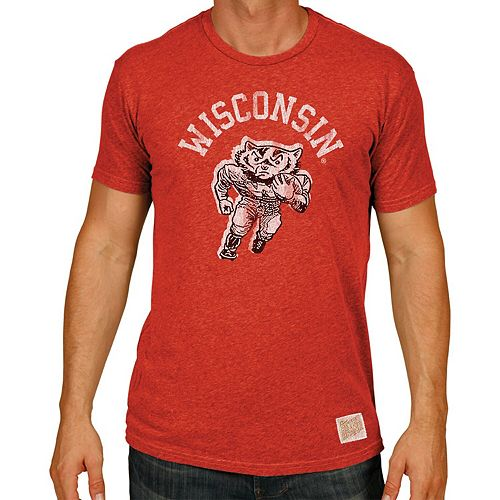 Men's Original Retro Brand Red Wisconsin Badgers Big & Tall Mock Twist T-Shirt