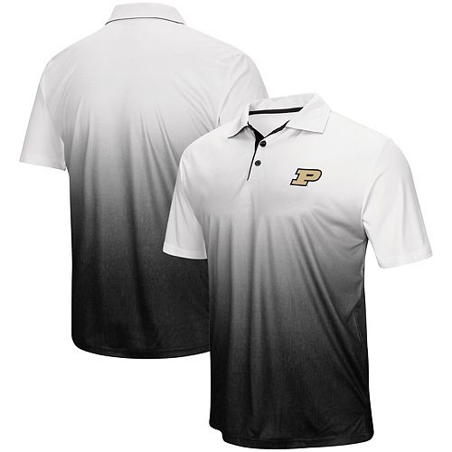 Men's Colosseum Heathered Gray Purdue Boilermakers Magic Team Logo Polo