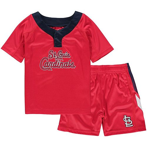 Toddler Red/Navy St. Louis Cardinals Ground Rules T-Shirt & Shorts Set