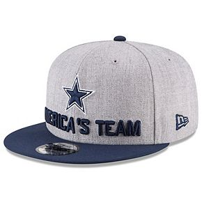 Youth New Era Heather Gray/Navy Dallas Cowboys 2018 NFL Draft Official On-Stage 9FIFTY Snapback Adjustable Hat
