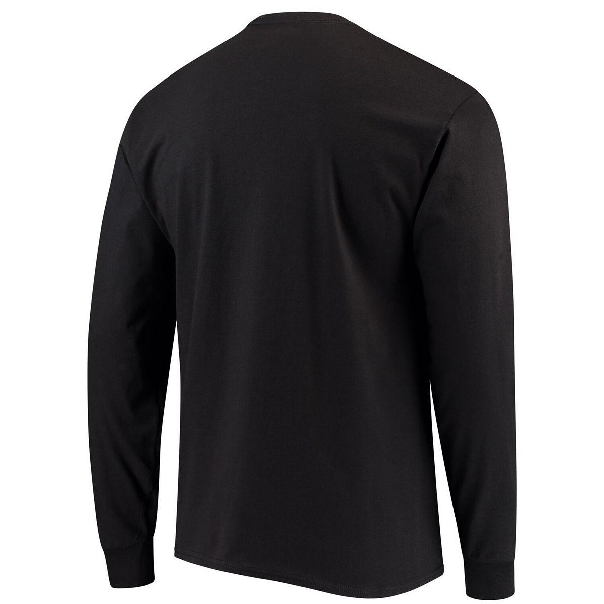 Men's Champion® Black Houston Cougars Stacked Logo Long Sleeve T-Shirt 7NKYu