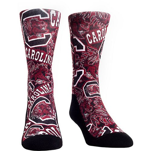 Women's Garnet South Carolina Gamecocks Logo Sketch Crew Socks