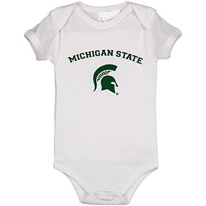 Infant White Michigan State Spartans Arch & Logo Bodysuit