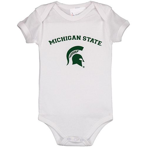 Infant White Michigan State Spartans Arch & Logo Bodysuit