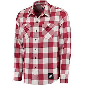 Men's Levi's Cardinal Arizona Cardinals Barstow Buffalo Plaid Western Long Sleeve T-Shirt