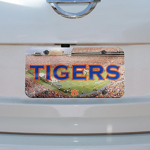 WinCraft Auburn Tigers Crystal Mirror License Plate