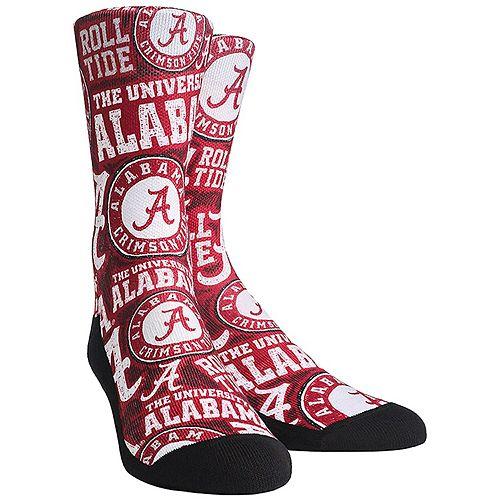 Women's Alabama Crimson Tide Logo Sketch Crew Socks