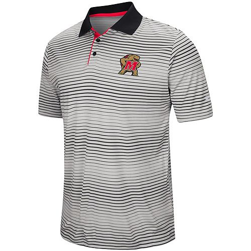 Men's Colosseum Gray Maryland Terrapins Lesson Number One Polo