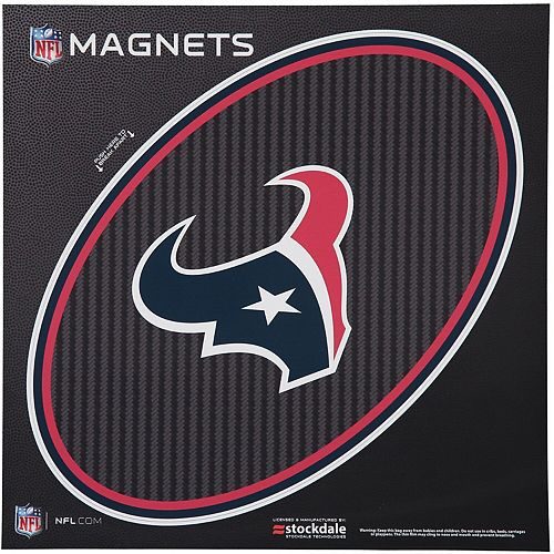 "Houston Texans Carbon 12"" x 12"" Oval Full Color Magnet"