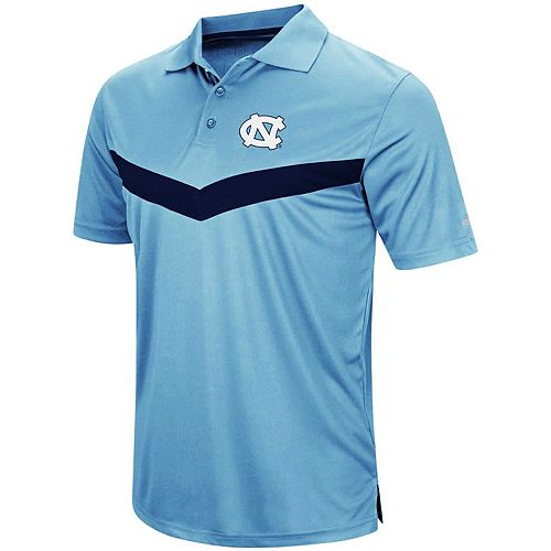Men's Colosseum Carolina Blue North Carolina Tar Heels Fastball Polo