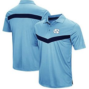 Men's Colosseum Carolina Blue North Carolina Tar Heels Fastball Polo