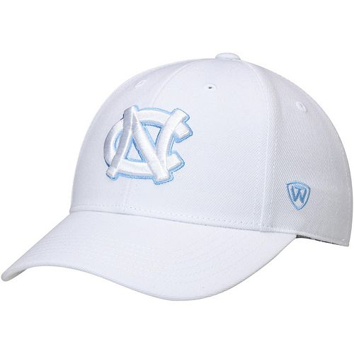 Men's Top of the World White North Carolina Tar Heels Dynasty Fitted Hat