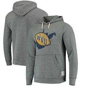 Men's Original Retro Brand Gray West Virginia Mountaineers School Logo Tri-Blend Hoodie