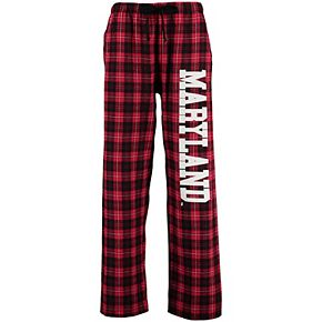 Women's Red Maryland Terrapins Flannel Pajama Pants