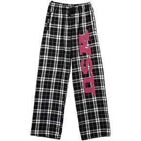 Youth Black Washington State Cougars Plaid Flannel Pants