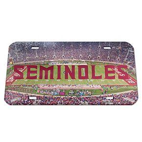 WinCraft Florida State Seminoles Stadium Crystal Mirror License Plate
