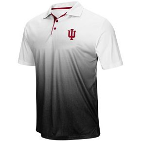 Men's Colosseum Heathered Gray Indiana Hoosiers Magic Team Logo Polo