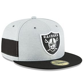 Youth New Era Heather Gray/Black Oakland Raiders 2018 NFL Sideline Home 59FIFTY Fitted Hat