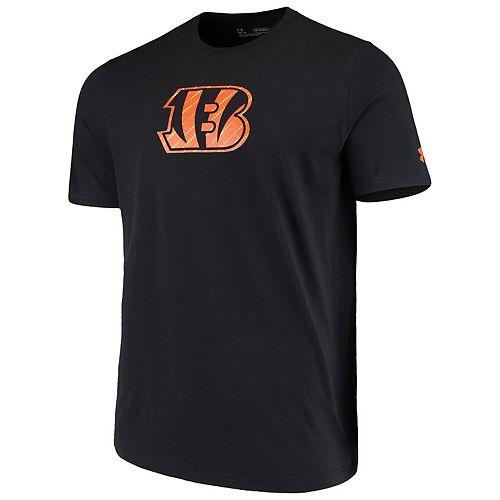 Men's Under Armour Black Cincinnati Bengals Combine Authentic Dot Logo Performance Tri-Blend T-Shirt