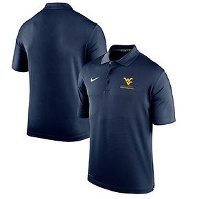 Men's Nike Navy West Virginia Mountaineers Logo and Mascot Name Varsity Performance Polo