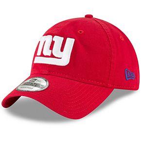 Men's New Era Red New York Giants Core Classic Secondary 9TWENTY Adjustable Hat