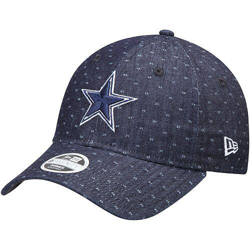 Women's New Era Navy Dallas Cowboys Dotted Denim 9TWENTY Adjustable Hat