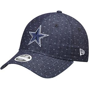 Women's New Era Navy Dallas Cowboys Dotted Denim 9TWENTY Adjustable Hat