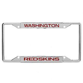 Washington Redskins Metal Frame Acrylic Inlaid Mirror License Plate Frame