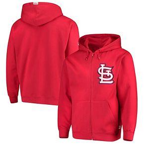 Men's Stitches Red St. Louis Cardinals Fleece Full-Zip Hoodie