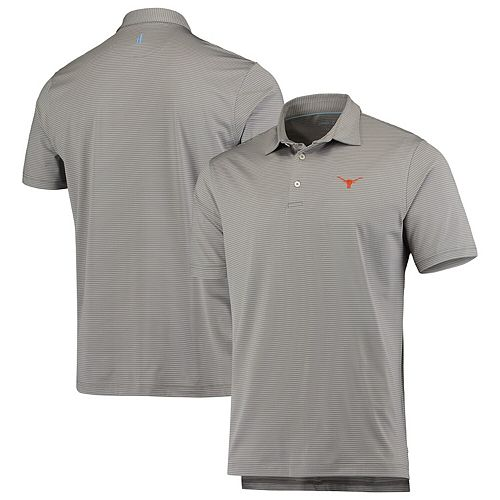 Men's johnnie-O Gray Texas Longhorns Albatross Polo