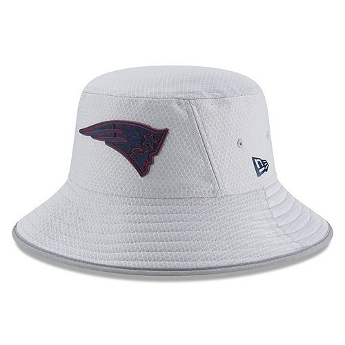 Youth New Era Gray New England Patriots 2018 Training Camp Official Bucket Hat