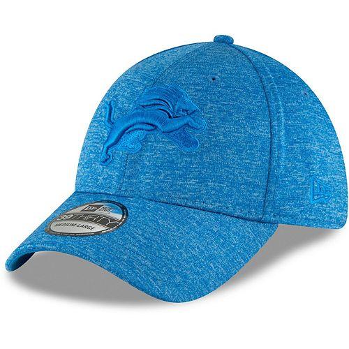 Men's New Era Heathered Blue Detroit Lions Heated Up 39THIRTY Flex Hat