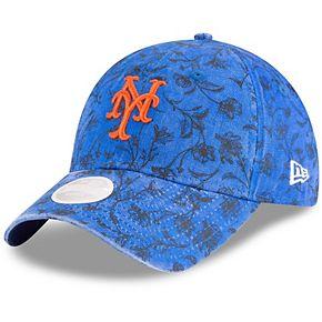 Women's New Era Royal New York Mets Floral Peek 9TWENTY Adjustable Hat