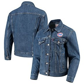 Women's Levi's Chicago Cubs Patch Trucker Denim Jacket
