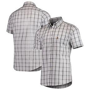 Men's Antigua Black Washington Redskins Woven Button-Down Shirt
