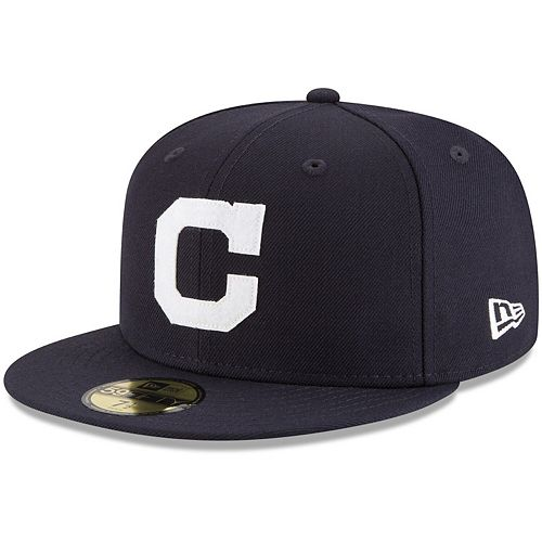 Men's New Era Navy Cleveland Indians Cooperstown Inaugural Season 59FIFTY Fitted Hat